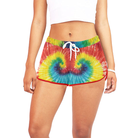 Tie Dye Women's All Over Print Relaxed Shorts (Model L19)