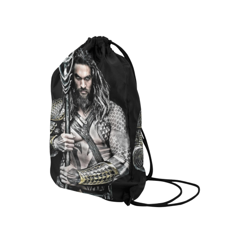 "Aquaman 2 Medium Drawstring Bag Model 1604 (Twin Sides) 13.8""(W) * 18.1""(H) - kdb solution"
