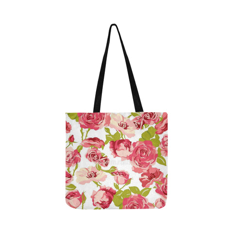 Pink flowers Reusable Shopping Bag Model 1660 (Two sides)