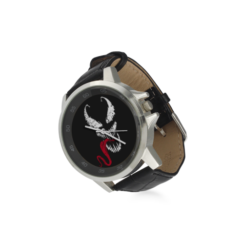 Venom 2 Unisex Stainless Steel Leather Strap Watch(Model 202) - kdb solution