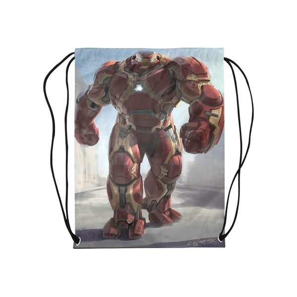 "Iron Man Hulk Buster Medium Drawstring Bag Model 1604 (Twin Sides) 13.8""(W) * 18.1""(H) - kdb solution"