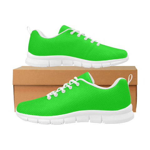Green Women's Breathable Running Shoes (Model 055)