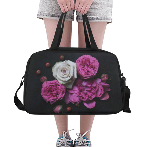 Pink Flowers Fitness/Overnight bag (Model 1671)