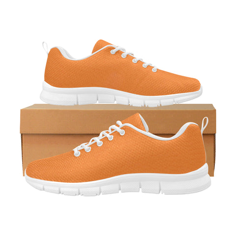 Orange Women's Breathable Running Shoes (Model 055)