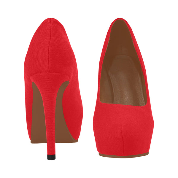 Bright Red Women's High Heels (Model 044) - kdb solution