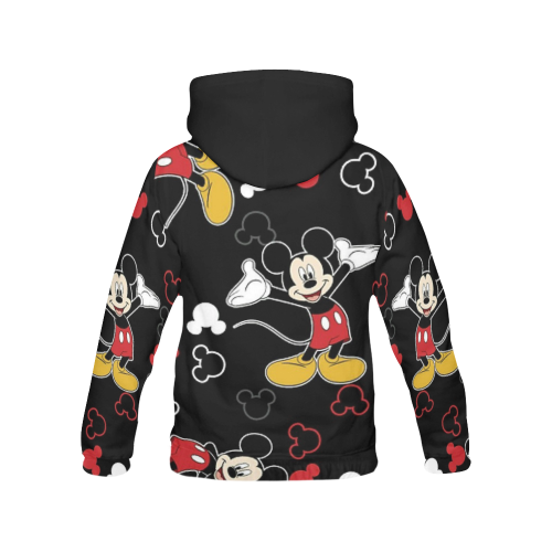 Mickey All Over Print Hoodie for Women (USA Size) (Model H13) - kdb solution