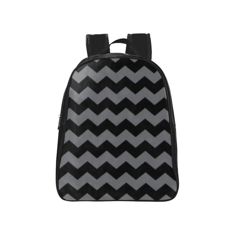 Black and Grey School Backpack (Model 1601)(Medium) - kdb solution