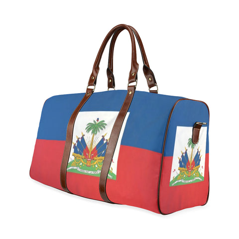 Haiti flag Waterproof Travel Bag/Small (Model 1639) - kdb solution
