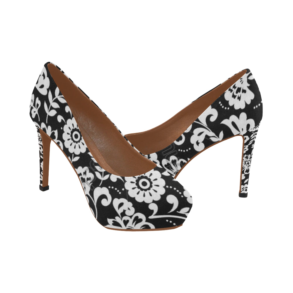 Dominique black and white flowers womens high heels model 044 dominique black and white flowers womens high heels model 044 kdb solution mightylinksfo