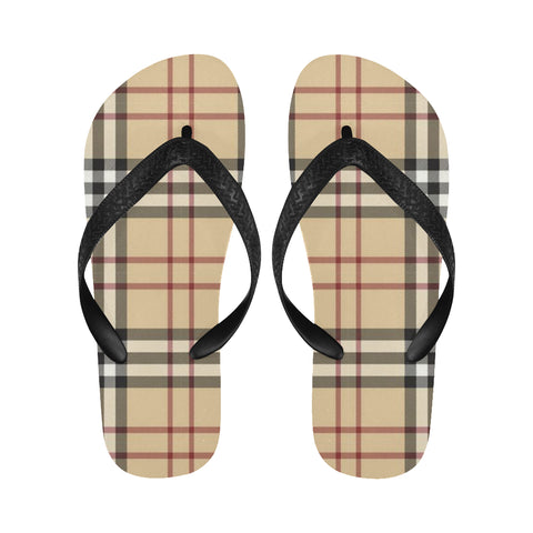 Burberry Pattern Flip Flops for Men/Women (Model 040) - kdb solution