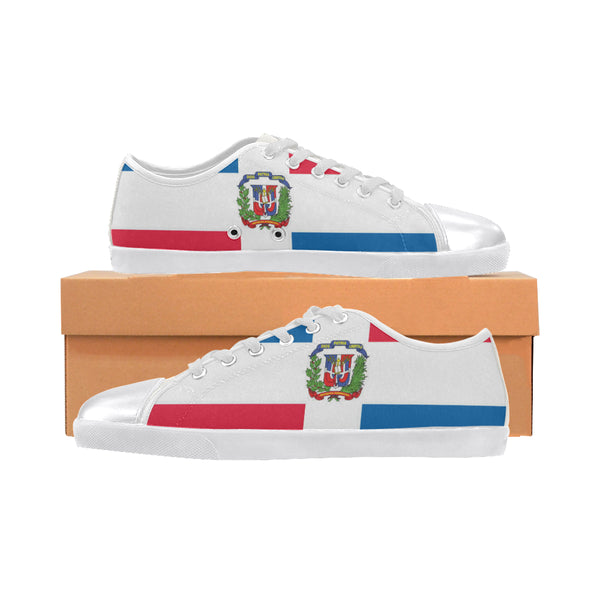 Dominican Republic Women's Canvas Shoes (Model 016) - kdb solution