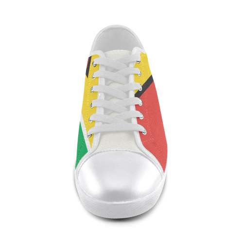 Guyana flag Women's Canvas Shoes (Model 016) - kdb solution