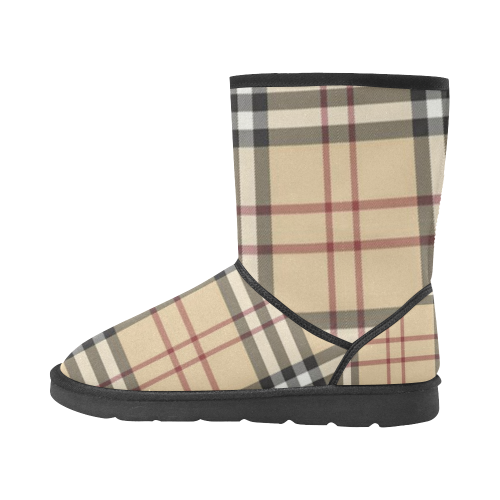Burberry Pattern Custom High Tip Unisex Snow Boots (Model 047) - kdb solution
