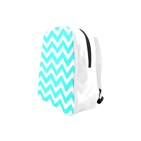blue and white School Backpack (Model 1601)(Medium) - kdb solution