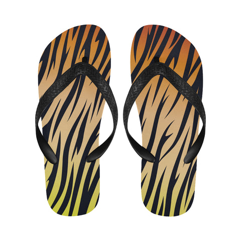Tiger Stripes Flip Flops for Men/Women (Model 040)