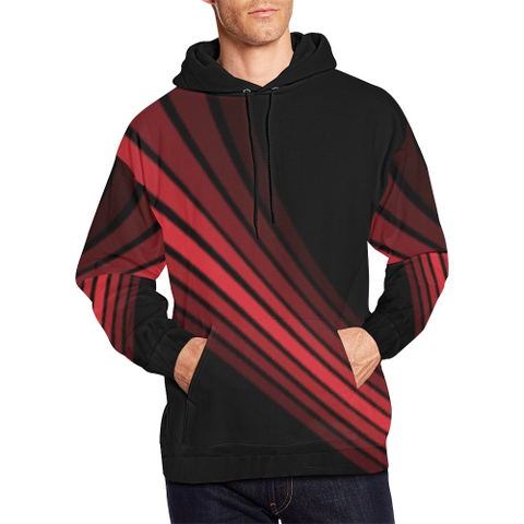 Red wand Black Design 2 All Over Print Hoodie for Men (USA Size) (Model H13)