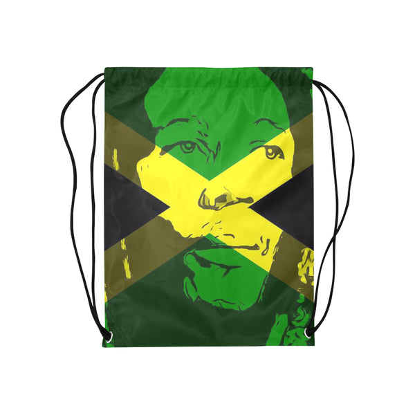 "Bob Marley Drawstring Medium Bag Model 1604 (Twin Sides) 13.8""(W) * 18.1""(H) - kdb solution"