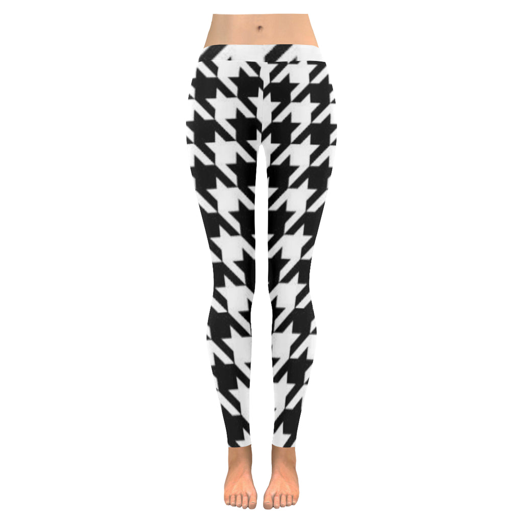 Black and White Low Rise Leggings  XXS-XXXXXL - kdb solution