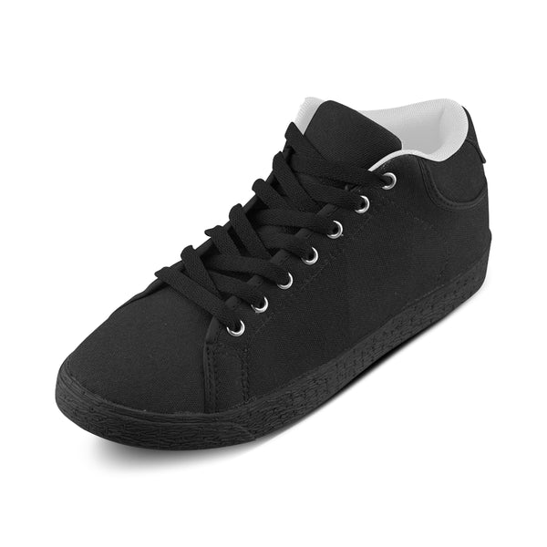 Black Men's Chukkas Canvas Shoes (Model 003) - kdb solution