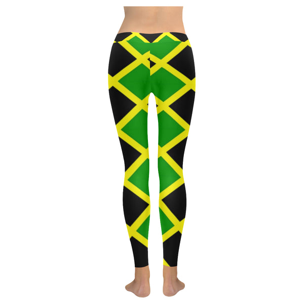 Jamaica Pattern Low Rise Leggings (Invisible Stitch) (Model L05) - kdb solution