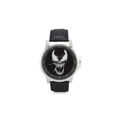 Venom 3 Unisex Stainless Steel Leather Strap Watch(Model 202) - kdb solution