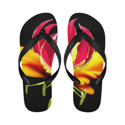 Flower1 Flip Flops for Men/Women (Model 040) - kdb solution