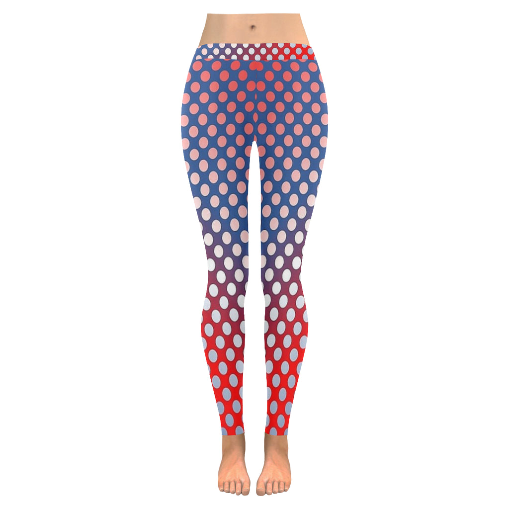 Rainbow Dots Low Rise Leggings (Invisible Stitch) (Model L05) - kdb solution