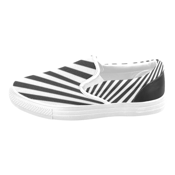 Women's Zebra Pattern Canvas Slip-ons Shoes\'s