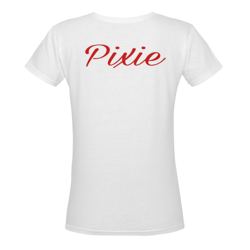 Pixie Women's Deep V-neck T-shirt (Model T19) - kdb solution