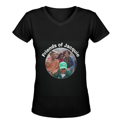 friends of Jacquie 4 Women's Deep V-neck T-shirt (Model T19) - kdb solution