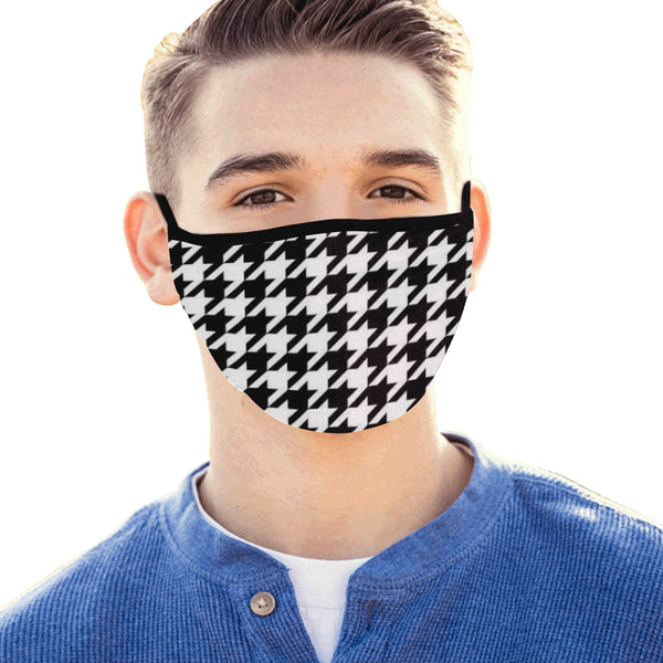 White and black design Mouth Mask - kdb solution