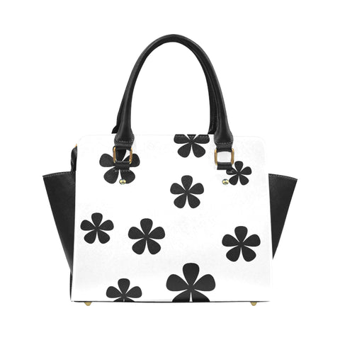 Black and White Pattern Classic Shoulder Handbag (Model 1653) - kdb solution