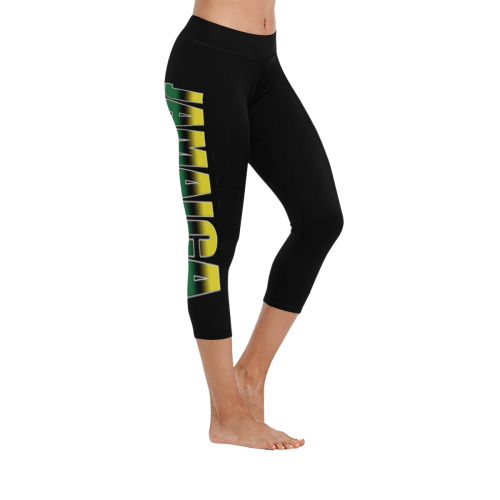 088ac7ba3cc137 Jamaica 1Logo Low Low Rise Capri Leggings (Invisible Stitch) (Model L08) -
