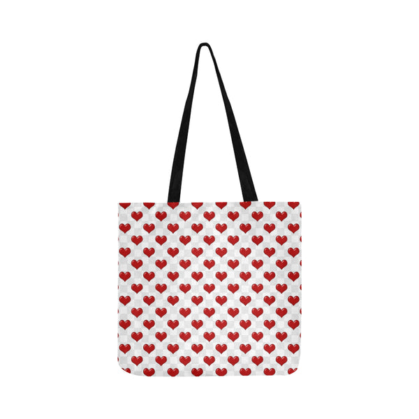 Red heart's Reusable Shopping Bag Model 1660 (Two sides) - kdb solution