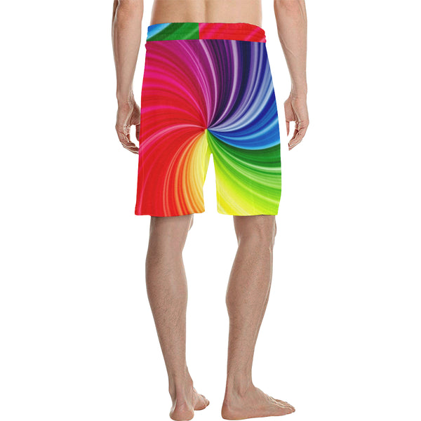 Tie Dye Men's All Over Print Casual Shorts (Model L23) - kdb solution