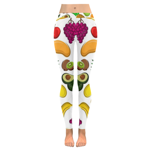 Fruits Low Rise Leggings (Invisible Stitch) (Model L05) - kdb solution