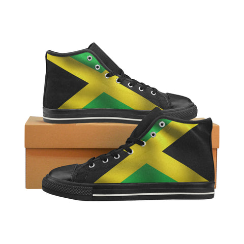 Jamaica Women's Classic High Top Canvas Shoes (Model 017) - kdb solution