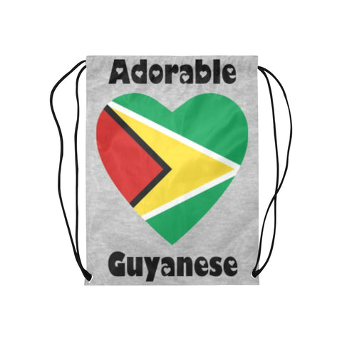 "Adorable Guyana Drawstring Medium Bag Model 1604 (Twin Sides) 13.8""(W) * 18.1""(H) - kdb solution"