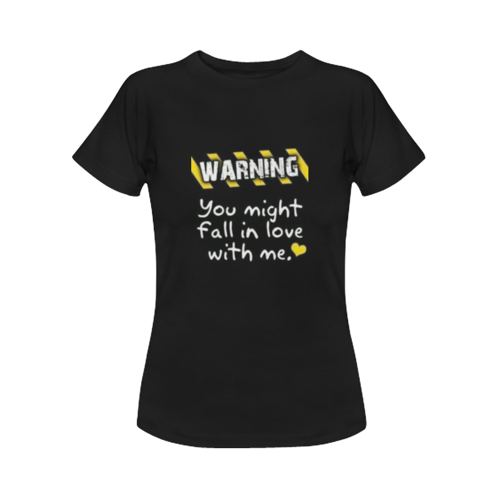 Warning Women's T-Shirt in USA Size (Front Printing Only) - kdb solution