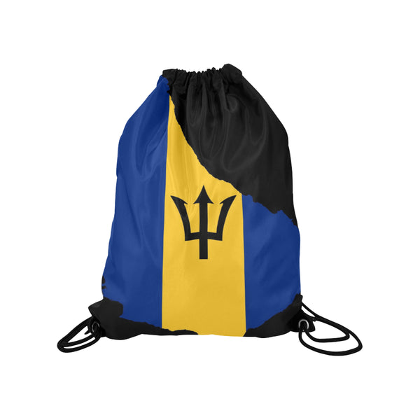 "Barbados Island Drawstring Medium Bag Model 1604 (Twin Sides) 13.8""(W) * 18.1""(H) - kdb solution"