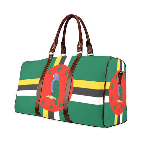 Dominica flag Waterproof Travel Bag/Small (Model 1639) - kdb solution