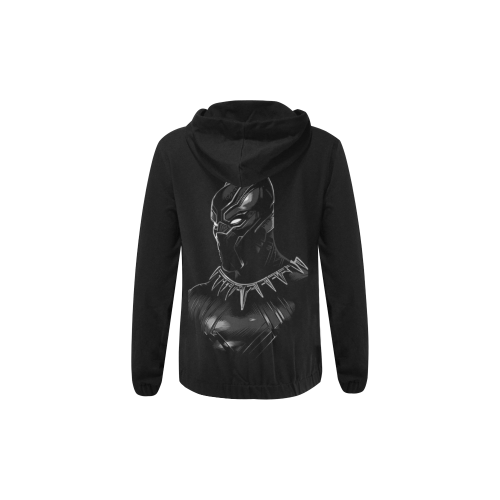 Black Panther All Over Print Full Zip Hoodie for Kid (Model H14) - kdb solution