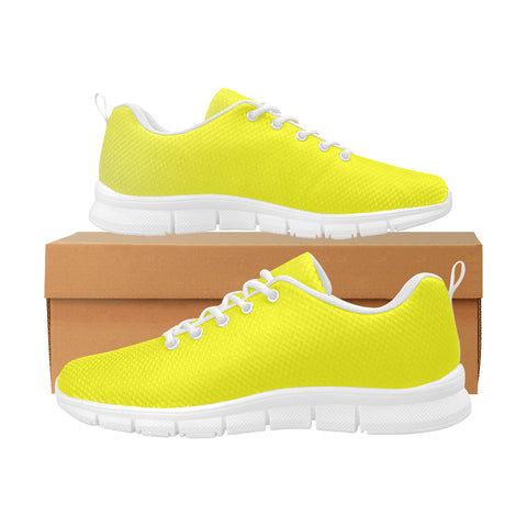 Yellow Women's Breathable Running Shoes (Model 055)