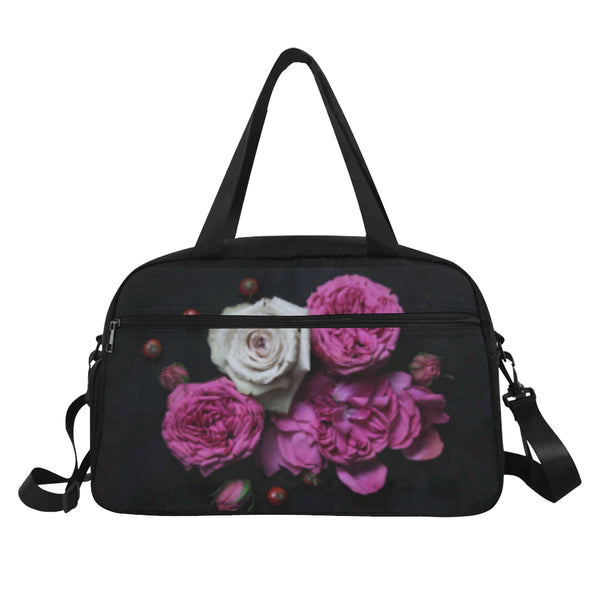 Pink Flowers Fitness/Overnight bag (Model 1671) - kdb solution