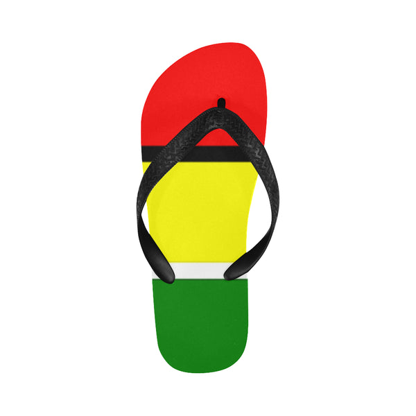 Red Yellow and Green Flip Flops for Men/Women (Model 040) - kdb solution