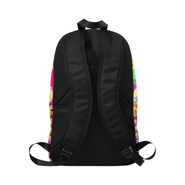 Emojis Fabric Backpack for Adult (Model 1659) - kdb solution