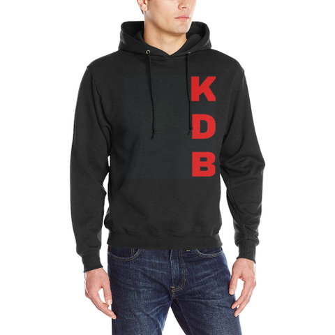 KDB Brand Black Men's Classic Hoodie (Model H17)