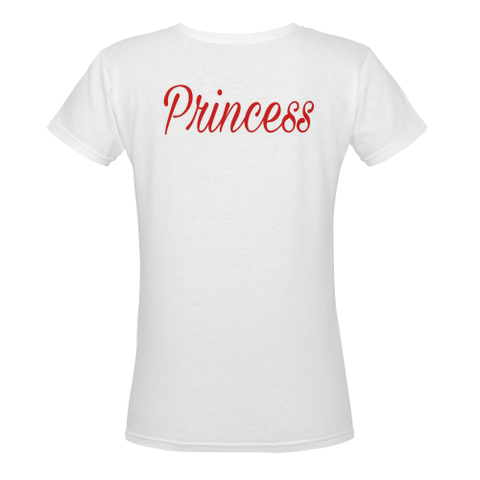 Princess Women's Deep V-neck T-shirt (Model T19) - kdb solution