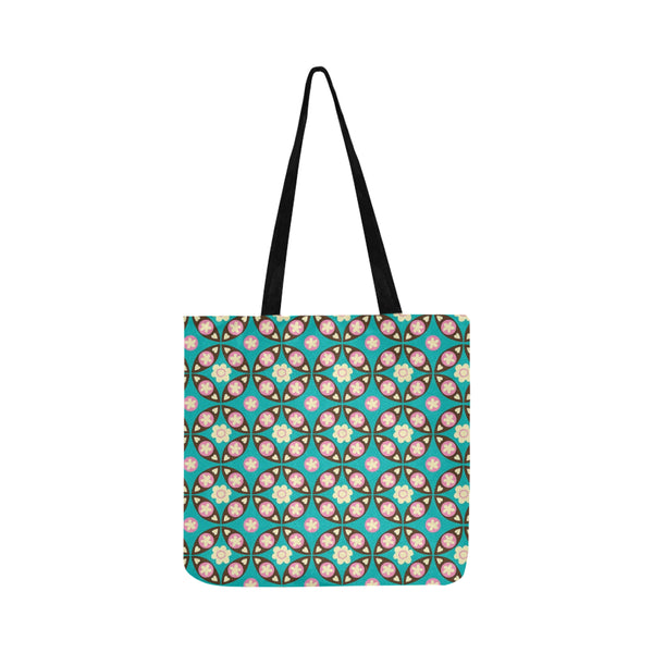 Flower pattern Reusable Shopping Bag Model 1660 (Two sides) - kdb solution