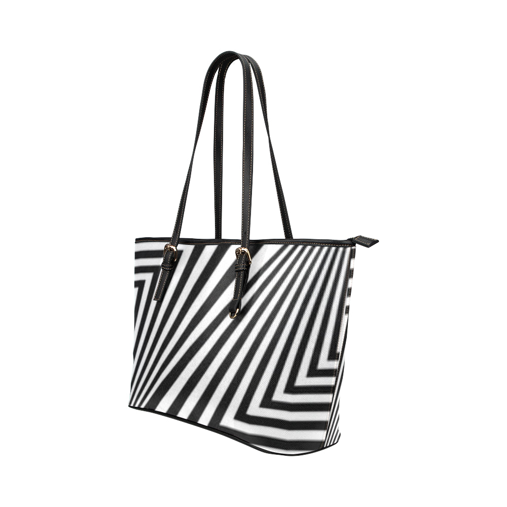 Zig Zag Leather Tote Bag/Small (Model 1651) - kdb solution